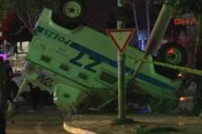 Diyarbakır'da zırhlı araç devrildi! 3 polis yaralı!