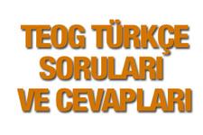 TEOG Türkçe soruları ve cevap anahtarı 2016 EBA