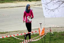 Davutoğlu'nun kızı oryantiring yarışında