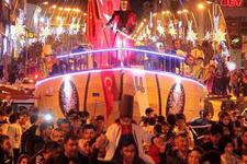 Erzurum'da gemiyi karadan yürüttüler