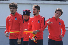 Trabzonspor basına kapalı çalıştı