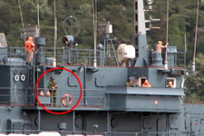 Rus savaş gemisi İstanbul'dan böyle geçti