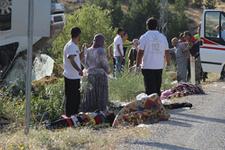 Malatya'da işçi minibüsü devrildi: 24 yaralı!