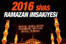 Sivas iftar vakti İmsakiye 2016 sahur saatleri