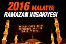 Malatya iftar vakti İmsakiye 2016 sahur saatleri