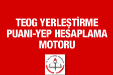 TEOG YEP hesaplama motoru MEB odgsm 2016