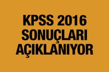 KPSS sonuçları 2016 açıklanıyor ÖSYM son açıklama