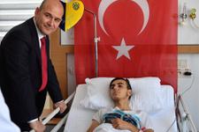 Süleyman Soylu'dan demokrasi kahramanlarına ziyaret