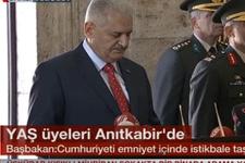 Başbakan Binali Yıldırım Anıtkabir defterini imzaladı