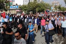 Van'da terör örgütü PKK'ya protesto!