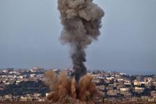 İsrail Gazze şeridinde HAMAS'ı yine uçaklarla vurdu
