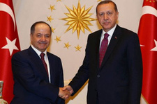 Erdoğan Beştepe'de Barzani'yi kabul etti