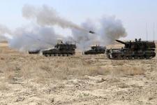 TSK Menbiç'in kuzeyinde YPG'yi vurdu