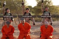 IŞİD bunu ilk kez yaptı çocuklara esirleri öldürttü videosunu yayınladı