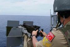 Rum gemisi ile Türk firkateyni arasında gerginlik