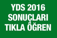 YDS sonuclari 2016 ÖSYM sorgu ekranı