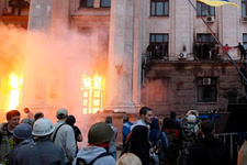Rus yanlısı yayın yapan televizyon ateşe verildi