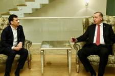 Erdoğan burnu kırılan vekili evinde ziyaret etti