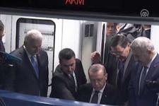 Cumhurbaşkanı Erdoğan, Keçiören metrosunun ilk sürüşünü yaptı