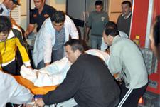 Patlayan lastik dehşeti:1 ölü 11 yaralı