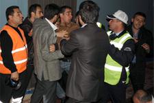 Abdullatif Şener'e ceza kavga çıkardı