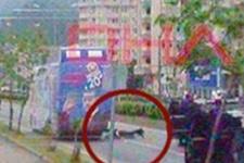 Erdoğan'ın koruması otobüsten düştü