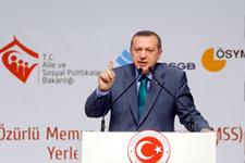 Erdoğan engelli memurları sevindirdi