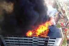 Ankara DHMİ'de yangın!