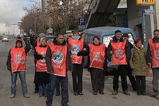 Hacettepe işçileri yol kapattı eylem yaptı