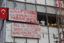 Adalet Bakanlığı inşaatında taşeron eylemi
