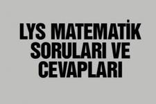 LYS Matematik soruları ve cevapları 2014
