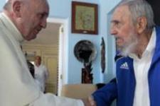 Papa, Havana'da Fidel Castro ile görüştü