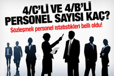 Türkiye'deki sözleşmeli personel sayısı belli oldu!