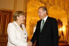 Erdoğan - Merkel görüşmesinden özel kareler