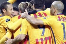 Barcelona düşe kalka kazanıyor!