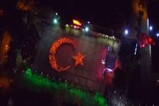 Ay yıldızlı bayrak 1923 kişi ile parladı