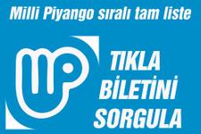 Milli Piyango sonuçları yılbaşı bileti sorgulama!