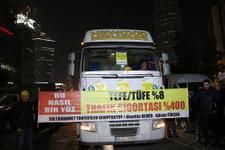 Sürücülerden trafik sigortası protestosu