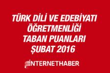 Türk Dili ve Edebiyatı öğretmenliği taban puanları 2016 MEB