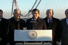 Davutoğlu'ndan 3. köprü açıklaması