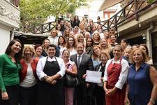 """180 kadına """"Girişimcilik Mutfağı"""" sertifikası"""