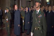 Devletin zirvesi Anıtkabir'i ziyaret etti