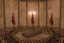 Atatürk'ün Anıtkabir'deki mezar odası görüntülendi