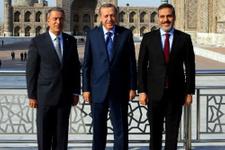 Erdoğan, Fidan ve Akar aynı karede!