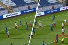 Kasımpaşa Karabükspor maçında kural hatası yapıldı