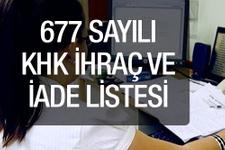 Son KHK ihraç ve göreve iade edilen SGK - TRT memurlar
