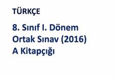 TEOG 2016 Türkçe soruları ve cevapları EBA videosu