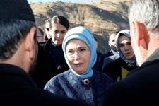 Emine Erdoğan'dan taziye ziyareti