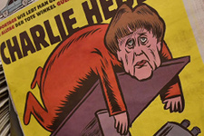 Charlie Hebdo ilk sayısında Merkel' 'bozdu'