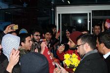 Galatasaray'a Erzincan'da coşkulu karşılama
